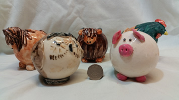 Funky Animals Pottery